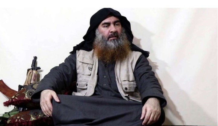 In the new video purportedly from Nigeria, the militants claim the murders were carried out in revenge for the death of Abu Bakr al-Baghdadi (pictured). (AP/Al-Furgan media)